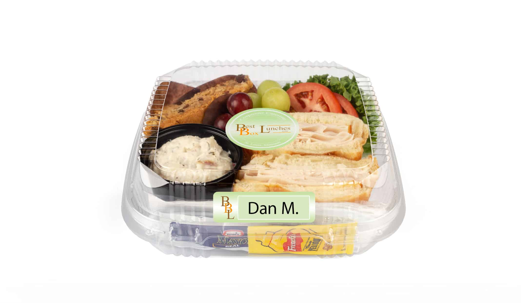 Personal Box Lunches labeled by name
